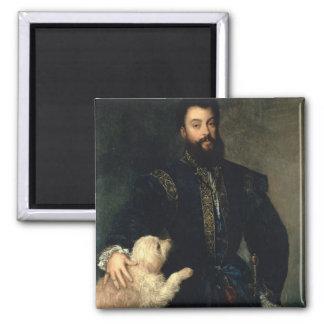 Federigo Gonzaga, Duke of Mantua, c.1525-30 (oil o Square Magnet