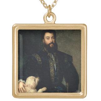 Federigo Gonzaga, Duke of Mantua, c.1525-30 (oil o Square Pendant Necklace
