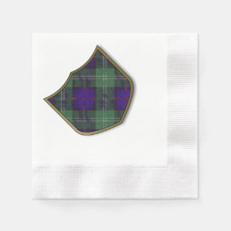 Federith clan Plaid Scottish kilt tartan Paper Napkins