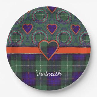 Federith clan Plaid Scottish kilt tartan Paper Plate