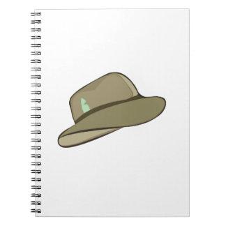 Fedora Hat Spiral Notebook