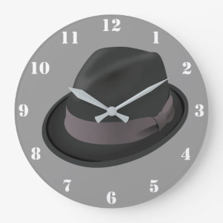 FEDORA HAT (WITH NUMERALS) Wall Clock