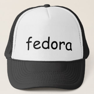 fedora trucker hat