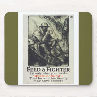 Feed A Fighter Mouse Pads