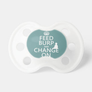 Feed Burp and Change On (baby) (any color) Dummy