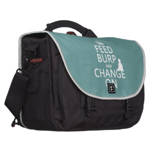 Feed Burp and Change On (baby) (any color) Laptop Bag