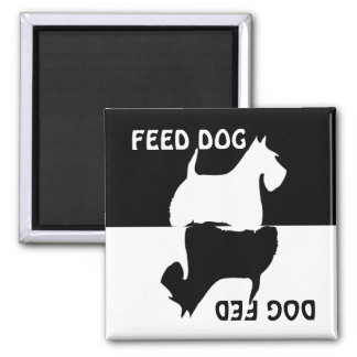 Feed dog, dog fed, Scottish Terrier fridge magnet