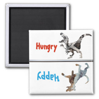 Feed Dog Magnet Hungry Happy Dinosaur Funny