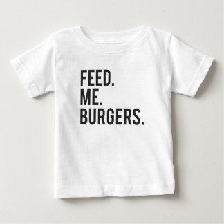 Feed Me Burgers Print Baby T-Shirt