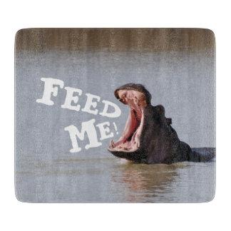 Feed Me! Hippo Cutting Board
