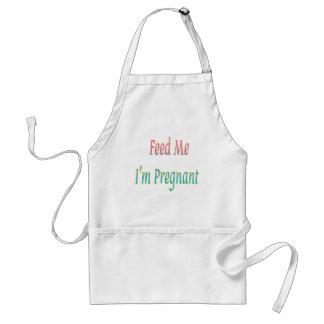 Feed Me I'm Pregnant Standard White Apron
