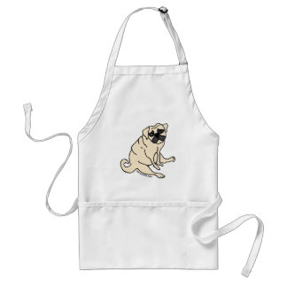 Feed Me Now Pug Apron
