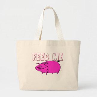 FEED ME PIG TOTE BAGS