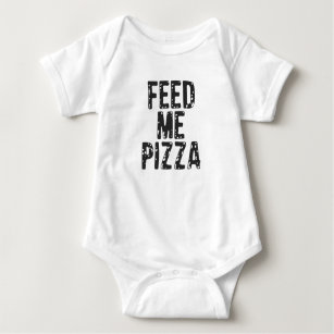 Feed Me Pizza Print Baby Bodysuit 01cded440