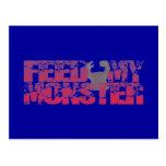 feed my monster postkarte