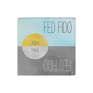Feed Pets Rotating Kitchen Magnet Reminder Stone Magnet