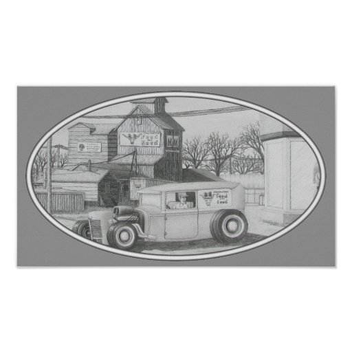 Feed Store Rat Rod Poster