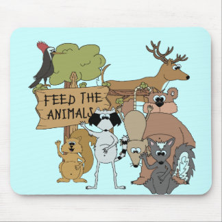 Feed the Animals Mouse Pad