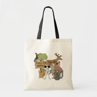 Feed the Animals Budget Tote Bag