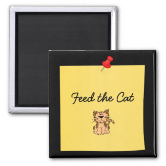 """Feed the Cat"" Reminder post-it-note magnet"