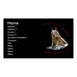 Feed The Rangers Double-Sided Standard Business Cards (Pack Of 100)