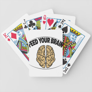 FEED YOUR BRAIN BICYCLE PLAYING CARDS