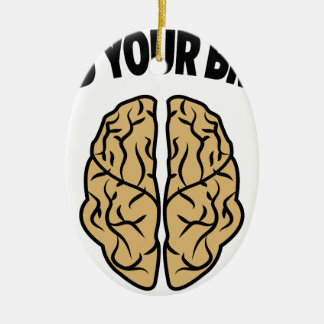 FEED YOUR BRAIN CERAMIC OVAL DECORATION