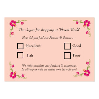 Feedback Card Large Business Cards (Pack Of 100)