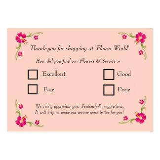 Feedback Card Business Card Templates