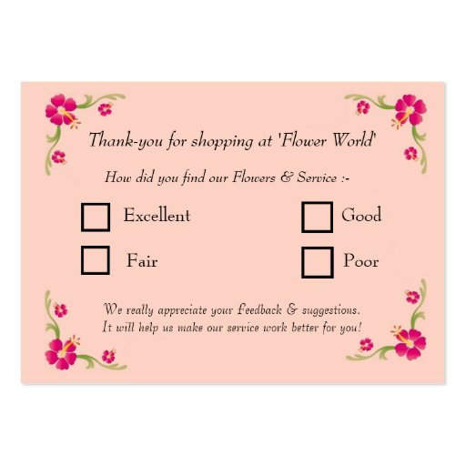 Feedback Card Business Card Templates