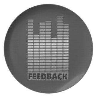 Feedback concept. plate