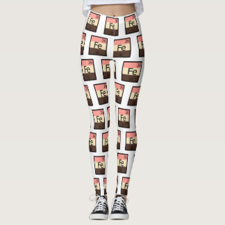 Feedee Iron Fe Periodic Table Pattern Leggings