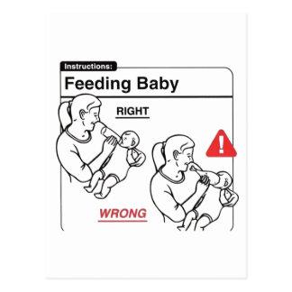 Feeding Baby Postcard