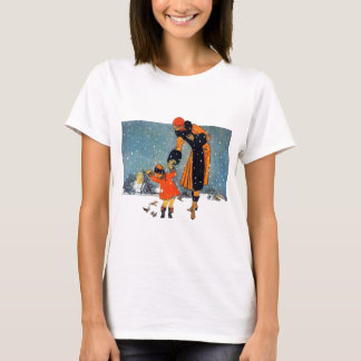 Feeding Birds in the Snow T-Shirt