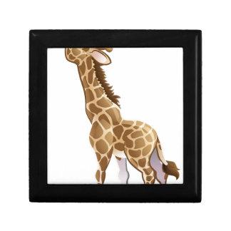 Feeding Giraffe Animal Cartoon Character Small Square Gift Box