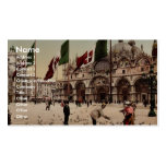 Feeding Pigeons in St. Mark's Place, Venice, Italy Business Cards