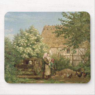 Feeding the Chickens Mouse Mat