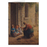 Feeding the Young, 1850 Card