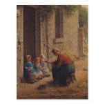 Feeding the Young, 1850 Postcard