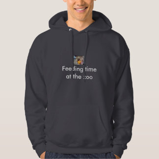 Feeding time at the zoo hoodie