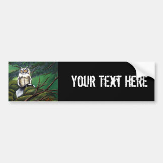 Feeding Time Owl Bumper Sticker