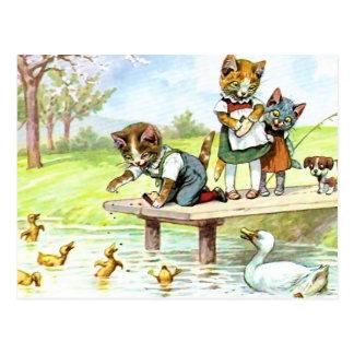 Feedinmg the Ducks Postcard