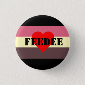 Feedist Pride Flag Pin- Feedee 3 Cm Round Badge
