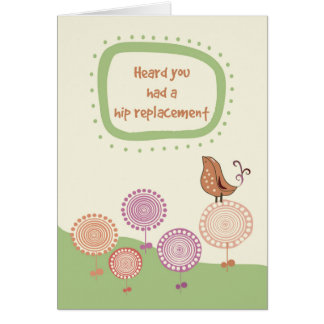 Feel Better, Get Well after Hip Replacement, Bird Card