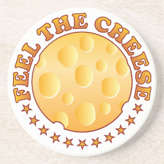 Feel Cheese Brown Coasters