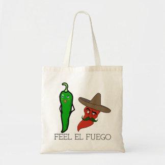 Feel el Fuego Tote Bag