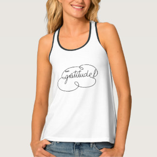 feel GRATITUDE - Bold CloudS Tank Top
