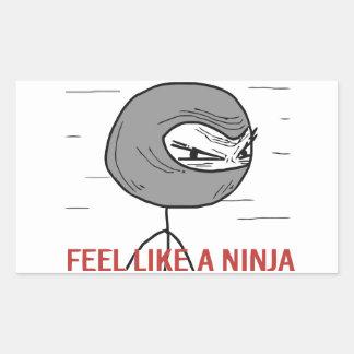 Feel Like A Ninja Rectangular Sticker