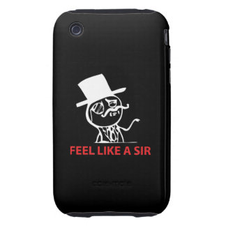 Feel Like A Sir - iPhone 3G/3GS Black Case iPhone 3 Tough Cover
