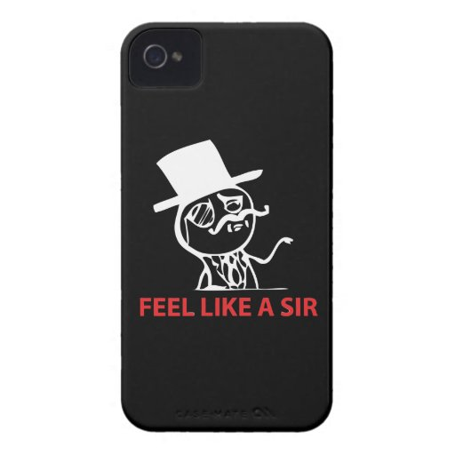 Feel Like A Sir - iPhone 4/4S Black Case iPhone 4 Case-Mate Case